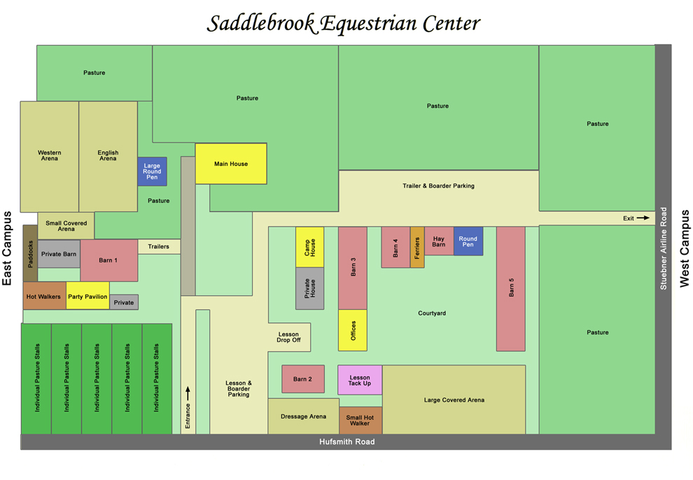 Map of Facilities - Saddlebrook Equestrian Center